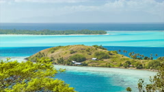 Bora Bora Island Residential Local Homesteads in Exotic Setting Stock Footage