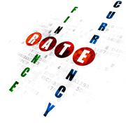 Banking concept: Rate in Crossword Puzzle Stock Illustration