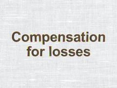 Banking concept: Compensation For losses on fabric texture background - stock illustration