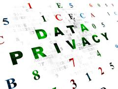 Privacy concept: Data Privacy on Digital background - stock illustration