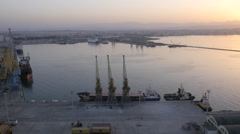 Albanian biggest harbor in city Durres - stock footage