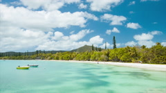 Welcome to Isle of Pine New Caledonia Stock Footage