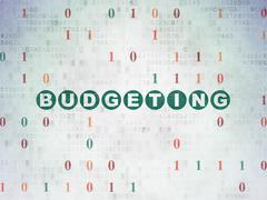 Business concept: Budgeting on Digital Paper background Stock Illustration
