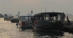Docked Ferry Boats In Male' Jetty Area, Male' City (4K) Stock Footage