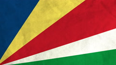 Seychellois flag waving in the wind (full frame footage) Stock Footage