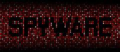 Spyware text on hex code illustration - stock illustration