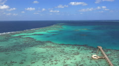Aerial shot of tropical coral reef - Red Sea, Sanganeb reef, Sudan Stock Footage