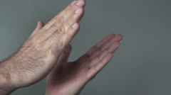Man hands clapping - stock footage