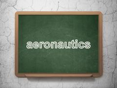 Science concept: Aeronautics on chalkboard background Stock Illustration