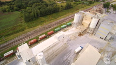 The railways on the side of the factory Stock Footage