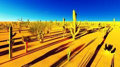 Stock Illustration of American desert