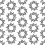 Seamless Black and White Abstract Pattern from Repetitive Triangles - stock illustration