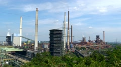 Industrial plants in Germany Stock Footage