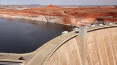 Glen Canyon Dam in Page, Arizona Stock Footage