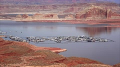 Lake Powell from the Wahweap Overlook Stock Footage