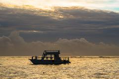 Colorful sunrise over Atlantic ocean. Dominican republic, Bavaro beach - stock photo