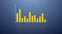 Bar graph with arrows axis. Grow, chart, statistic, business concept. - stock footage
