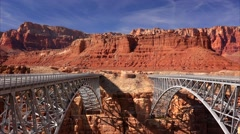 Navajo Bridge Spans Marble Canyon Stock Footage