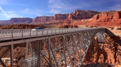 Navajo Bridge Near Page, Arizona Stock Footage