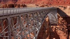Navajo Bridge in Arizona Stock Footage