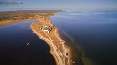 The sandbar on the Saaremaa sea in Estonia Stock Footage
