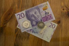 Swedish 20 kronor bill - stock photo