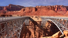 Marble Canyon and Navajo Bridge Stock Footage