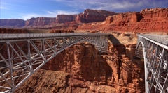 Historic Navajo Bridge - stock footage