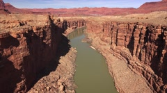Colorado River Cuts Through Marble Canyon - stock footage