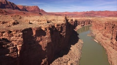 Marble Canyon and The Colorado River - stock footage