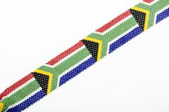 Zulu Beads Threaded in the Colors of the South African Flag - stock photo