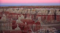 Coal Mine Canyon in Arizona at Twilight Stock Footage