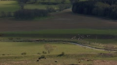 Light rolls over the Landscape in the Tweed Valley, Scottish Borders Stock Footage