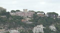 Imposing buildings seen on Nice coastline Stock Footage