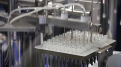 Filling machine, pharmaceutical equipment Stock Footage