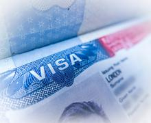 Detail Of A USA Visa - stock photo
