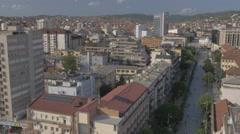 Pristina aerial Stock Footage