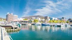 Hobart Tasmania Harbour Marina Stock Footage