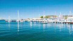 Hobart Tasmania Island Port Marina Stock Footage