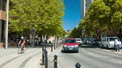Hobart Tasmania City Center Street Scene Stock Footage