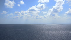 Aerial view of endless ocean or open sea with clouds - Red Sea - stock footage
