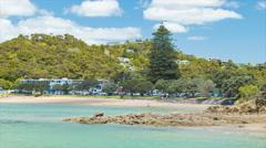 Bay of Islands NZ Paihia Beachfront Stock Footage