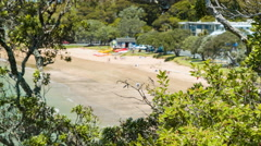 Bay of Islands NZ Paihia Beach Nestled in Nature Stock Footage