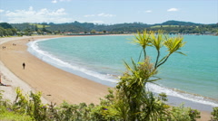 Te Ti Bay Beach in the Bay of Islands New Zealand Stock Footage