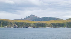 Sailing Around Cape Horn the Southernmost Tip of South America Stock Footage