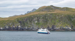 Cape Horn Yacht Bringing Tourists to the Southernmost Tip Stock Footage