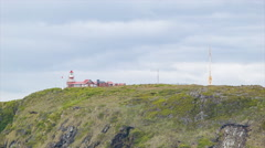 Cape Horn Lighthouse Close-up at Southernmost Tip of South America Stock Footage