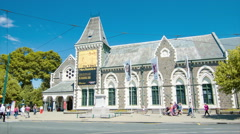 Stock Video Footage of Christchurch NZ Canterbury Museum Exterior