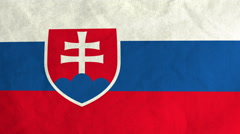 Slovak flag waving in the wind (full frame footage) Stock Footage