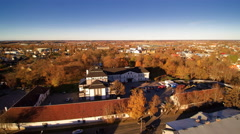 Aerial landscape view of the city of Rakvere in Estonia Stock Footage